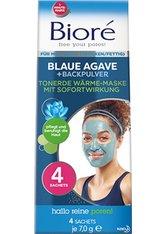 Bioré Blaue Agave & Backpuler Tonerde Wärme-Maske 4 Sachets Gesichtsmaske