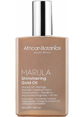 AFRICAN BOTANICS - African Botanics - Marula Shimmering Gold Oil, 100 Ml – Gesichts-, Haar- Und Körperöl - one size - Körpercreme & Öle