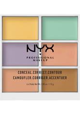 NYX Professional Makeup 3C Conceal, Correct, Contour Concealer Palette 9 g Nr. 04 - Creme