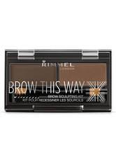 Rimmel London Brow This Way Eyebrow Sculpting Kit 1.3g Dark Brown