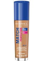Rimmel Match Perfection Foundation 30ml 502 Caramel (Medium/Dark, Neutral)