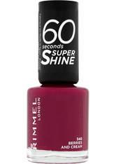 Rimmel 60 Seconds Super Shine Nail Polish 8 ml (verschiedene Farbtöne) - Berries and Cream