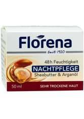 FLORENA - Florena 48 h Feuchtigkeit Nachtpflege Sheabutter & Arganöl - NACHTPFLEGE