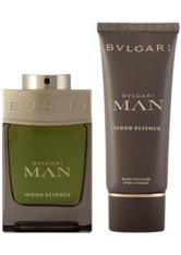 Bvlgari Man Wood Essence EDP Geschenkset EDP 100 ml + 100 ml Aftershave Balm + Pouch