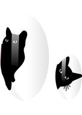 CAT KITTY transparent NAGELFOLIEN
